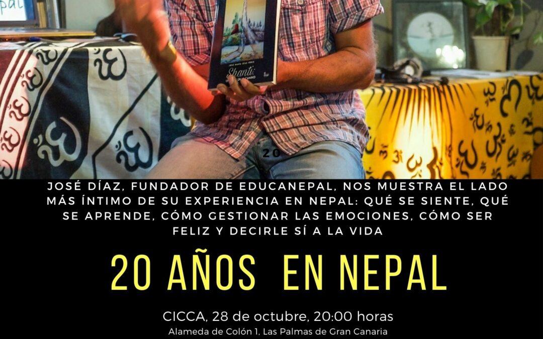 Acto 20 años en Nepal de José Díaz e información sobre retiros